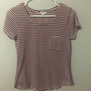 Garage Red and White Stripped T-shirt